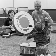 "16/"" x 8/"" Remo KD581601 Kids Percussion Rainforest Gathering Drum"